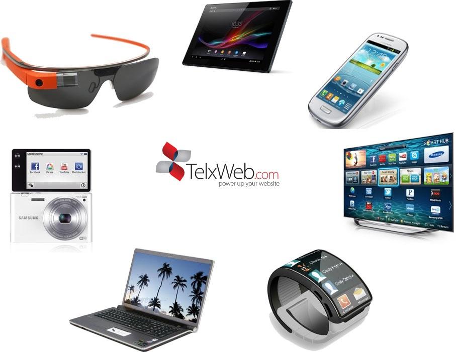 TV, smartphone, glasses, laptop, desktop