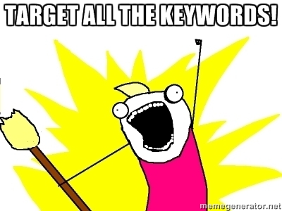 target all the keywords